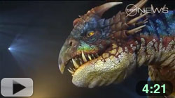Deadly Nadder dragon that appears in the How to Train Your Dragon Arena Show