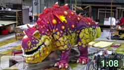 painting the gronckle dragon anamatronic