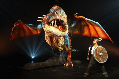 Deadly Nadder animatronic dragon from HOW TO TRAIN YOUR DRAGON ARENA SPECTACULAR show