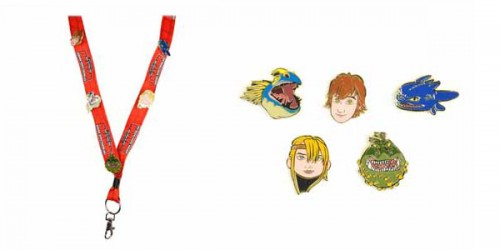 How to Train Your Dragon Arena Spectacular souvenir lanyard with brass pins