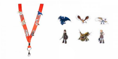 How to Train Your Dragon Arena Spectacular souvenir lanyard with enamel pins