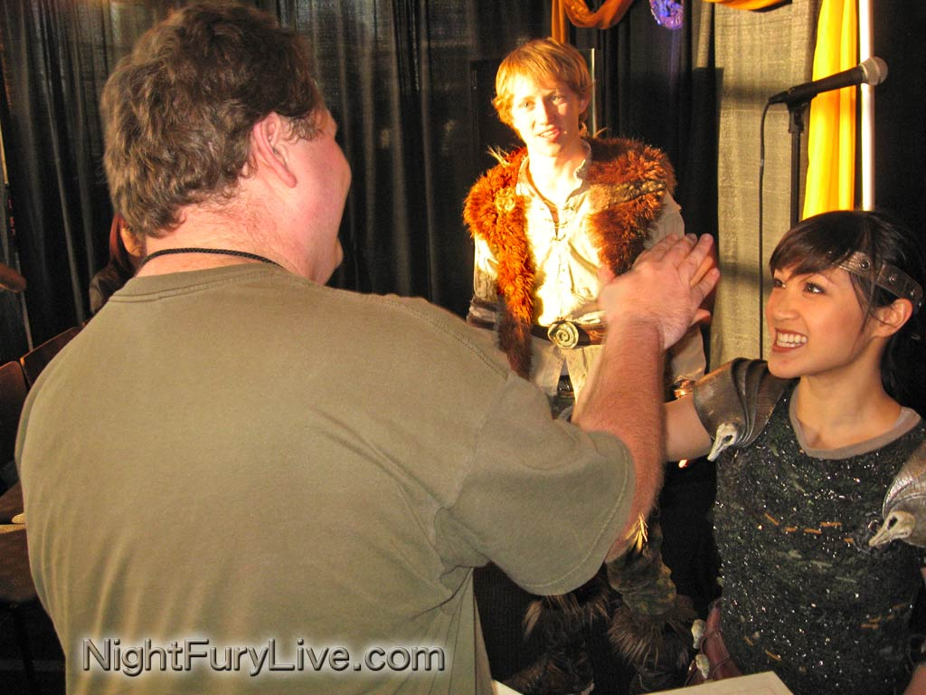 Seeing the show with a vip experience a review nightfurylive how vip fans shown meeting astrid and hiccup at the how to train your dragon live spectacular ccuart Choice Image