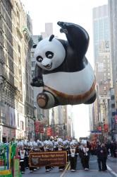 Macy's Parade balloon Po from Kung Fu Panda