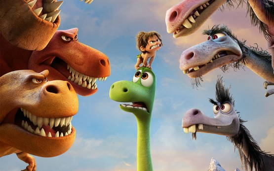 characters from Pixar's The Good Dinosaur movie