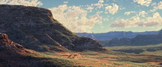 Background scenery from the movie The Good Dinosaur