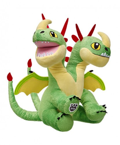 Barf and Belch plush stuffed dragon toys at Build a Bear