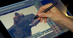an animator works on the animations of Toothless the dragon in How to Train Your Dragon